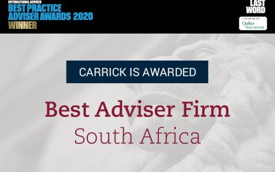 Carrick Wealth: The Best Adviser Firm in South Africa